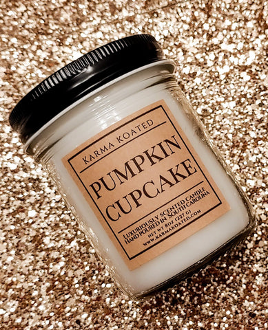 Pumpkin Cupcake Single-Wick Candle 8oz Candle Karma Koated