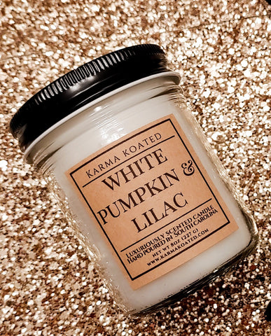 White Pumpkin & Lilac Single-Wick Candle 8oz Candle Karma Koated