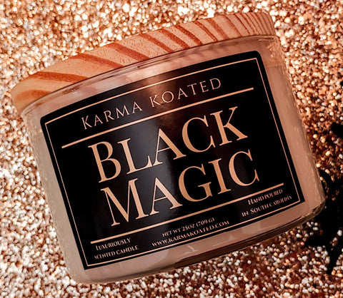 Black Magic 3-Wick Candle 25oz Candle Karma Koated
