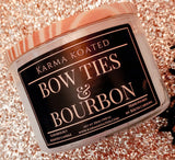 Bow Ties & Bourbon 3-Wick Candle 25oz Candle Karma Koated