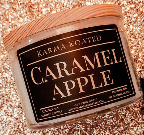 Caramel Apple 3-Wick Candle 25oz Candle Karma Koated