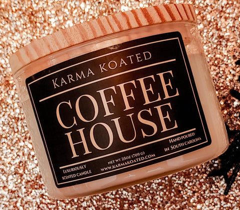 Coffee House 3-Wick Candle 25oz Candle Karma Koated