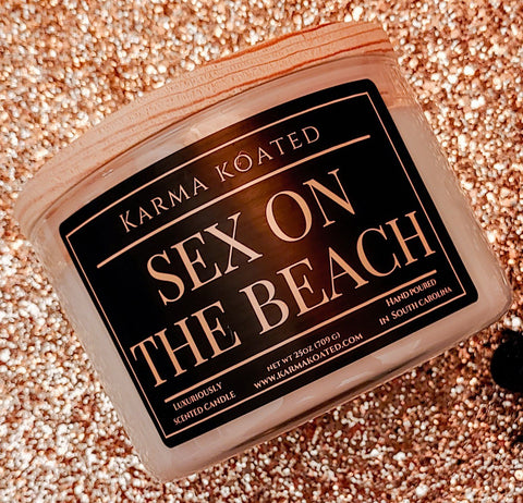 Sex on the Beach 3-Wick Candle 25oz Candle Karma Koated