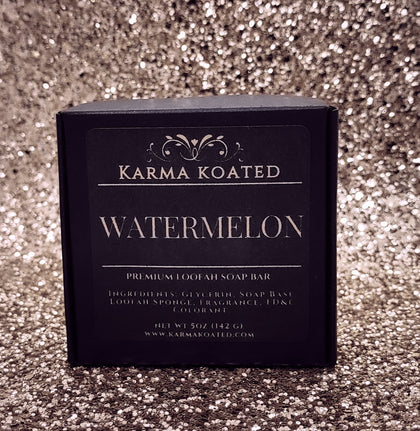 Watermelon Loofah Soap Bar Karma Koated