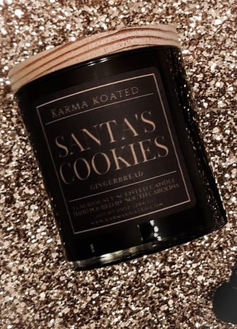 Santa's Cookies 2-Wick Candle 10oz Candle Karma Koated