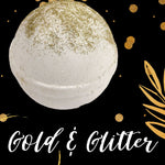 Gold and Glitter Bath Bomb Bath Bombs Karma Koated