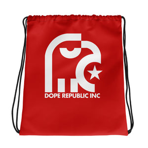 Dope Republic Drawstring Red bag