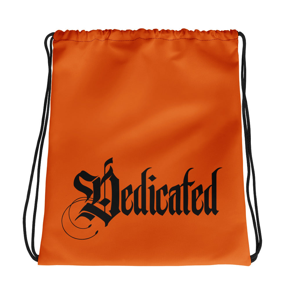 Dedicated Drawstring Orange bag