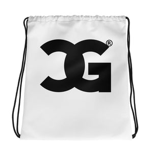 Cxcaine Gvng Drawstring White bag