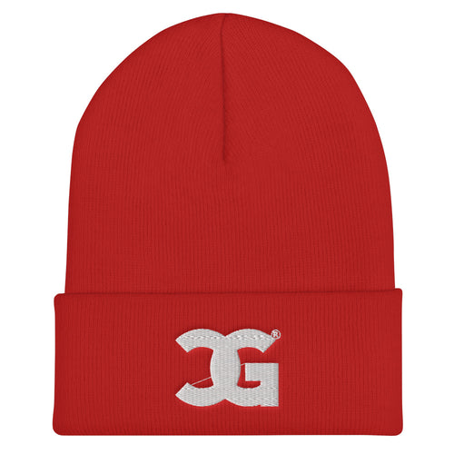 Cxcaine Gvng Cuffed Red Beanie