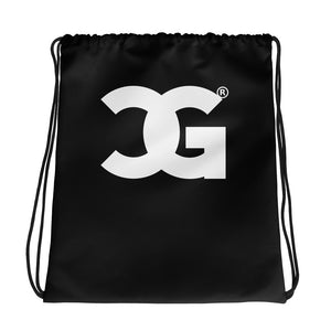 Cxcaine Gvng Drawstring Black bag