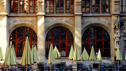 Cafe, Early Morning, Munich, Germany