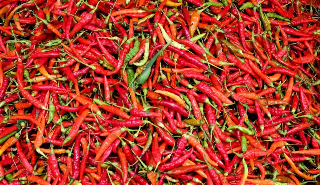 Peppers in a market in Myanmar