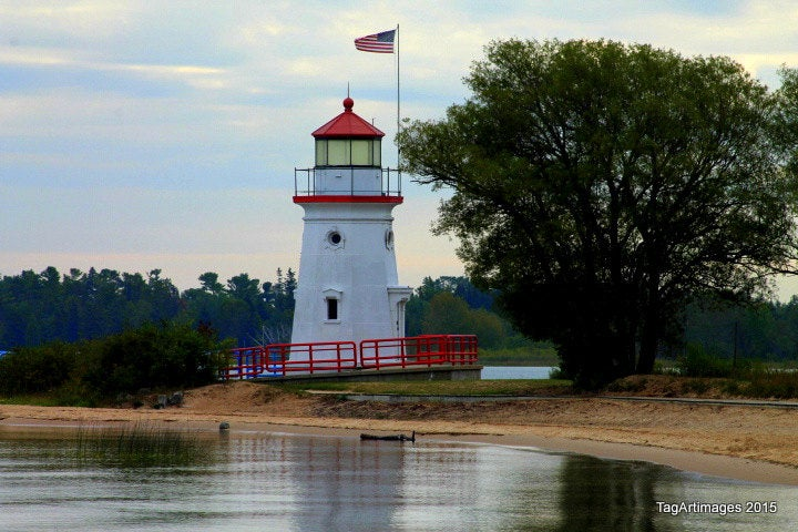Cheboygan Crib Light, mouth of the Cheboygan River, Michigan