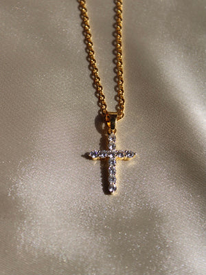Crystal Cross Pendant chain