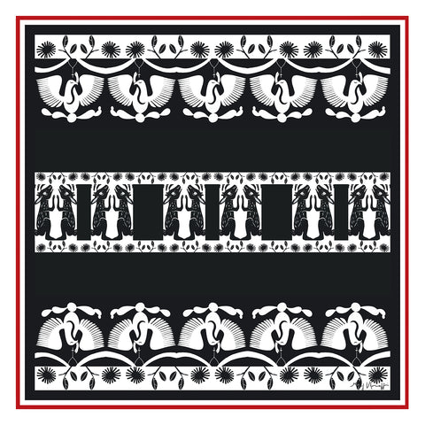 Scarf Large Square -  RITES and MYTHS