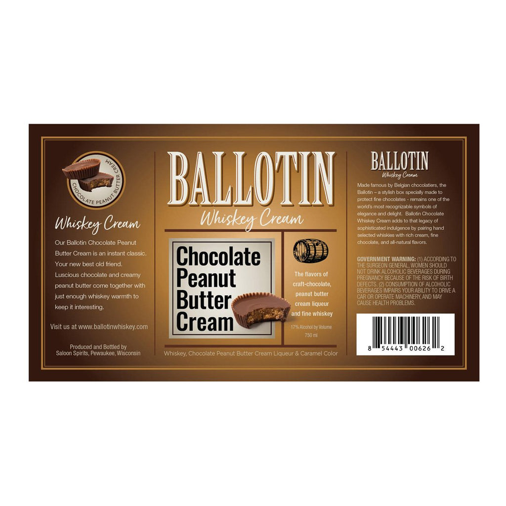 Ballotin Chocolate Peanut Butter Cream