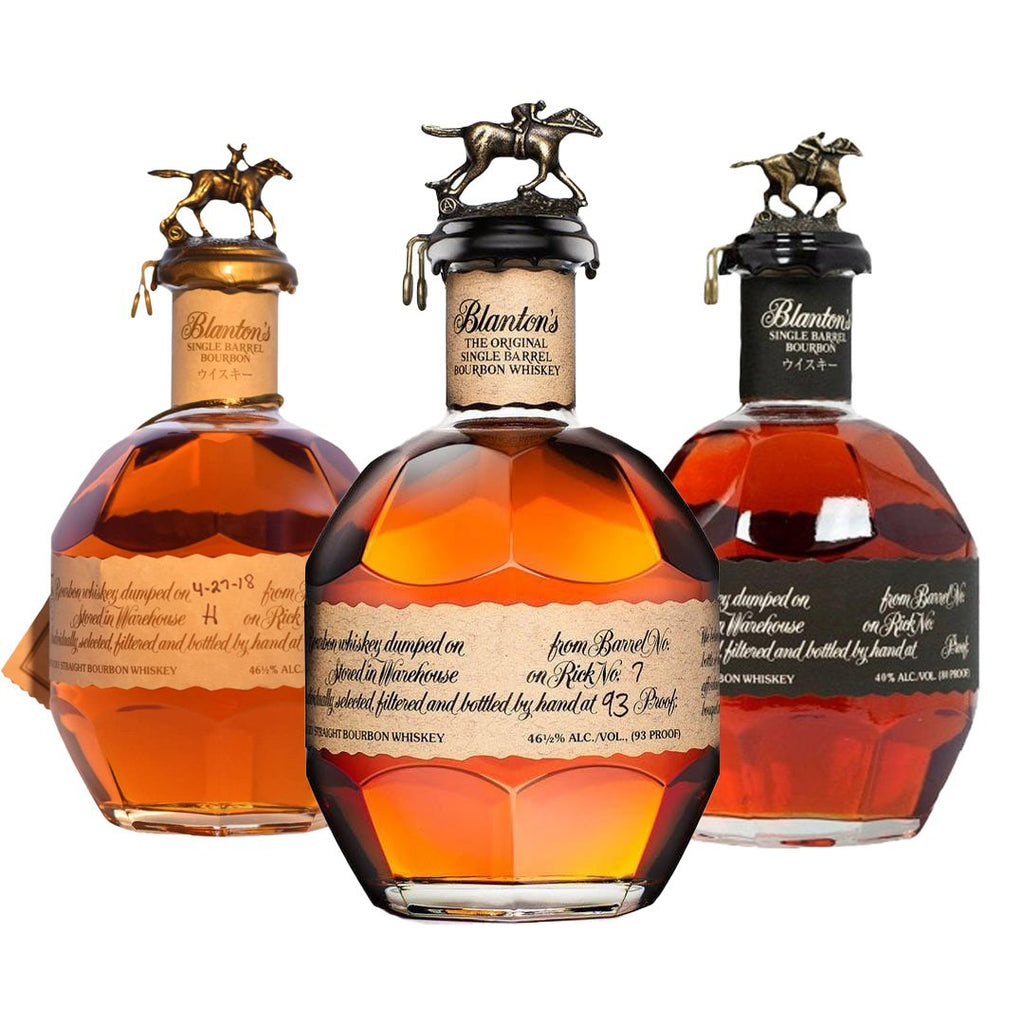 Blanton Single Barrel, Blanton Takara Red, Blantons Black Special Blanton Single Barrel, Blanton Takara Red, Blantons Black Special Sip Whiskey