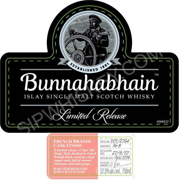 Bunnahabhain French Brandy Cask Finish Scotch Bunnahabhain