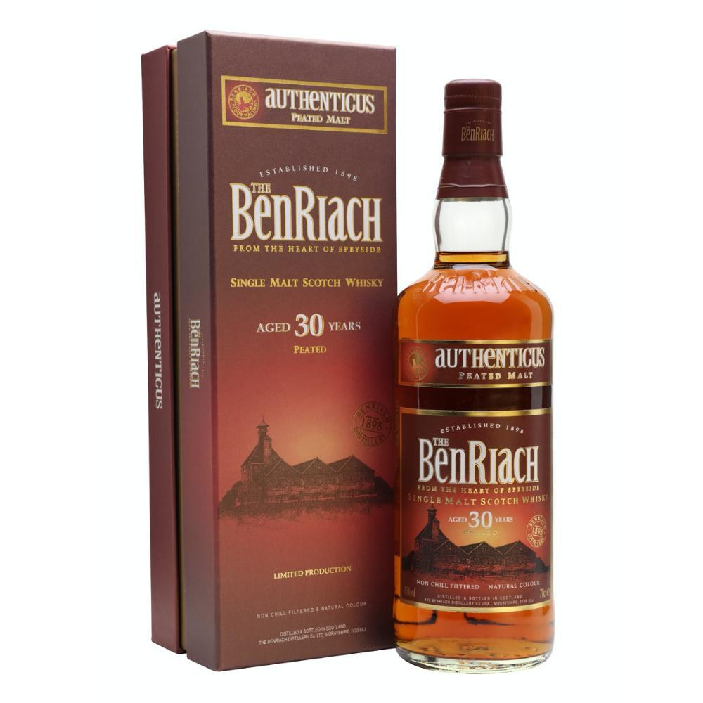 Benriach Authenticus 30 Year Old Peated Scotch BenRiach