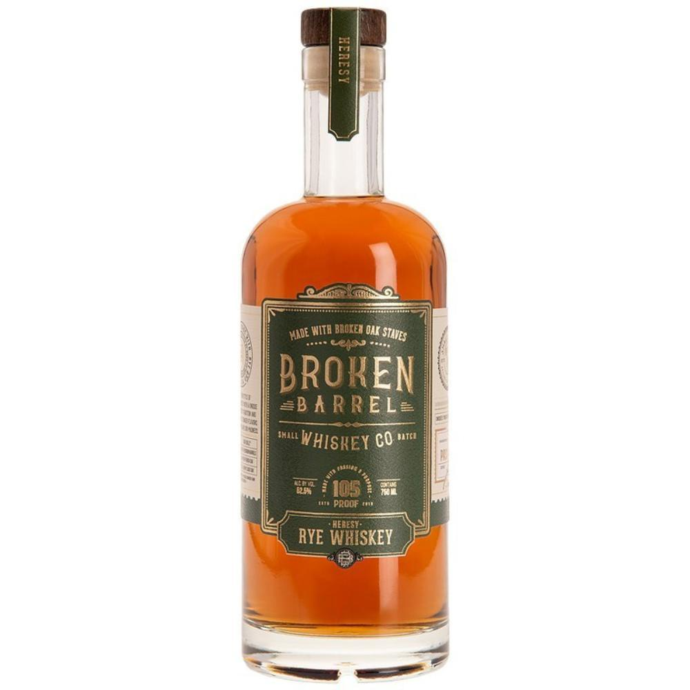 Broken Barrel Heresy Rye Whiskey Rye Whiskey Broken Barrel Whiskey