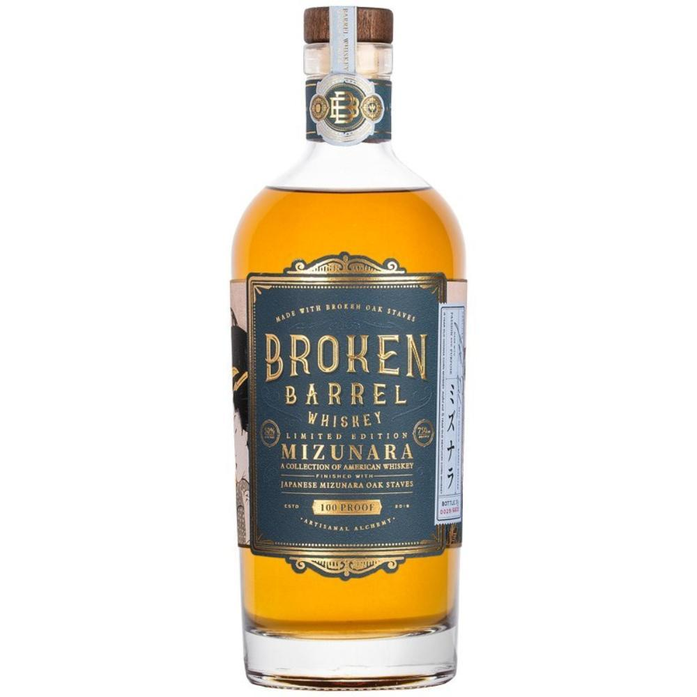 Broken Barrel Single Oak Mizunara American Whiskey Broken Barrel Whiskey