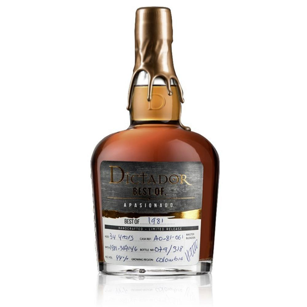 Dictador Best Of 1980 Whiskey Cask Finish Vintage Rum Rum Dictador