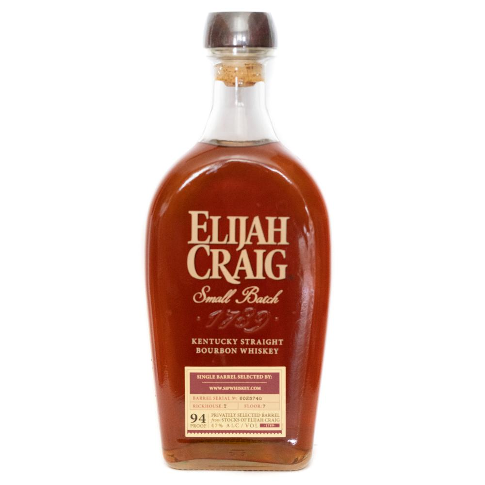 Elijah Craig Small Batch Single Barrel Selected SipWhiskey.Com Bourbon Elijah Craig