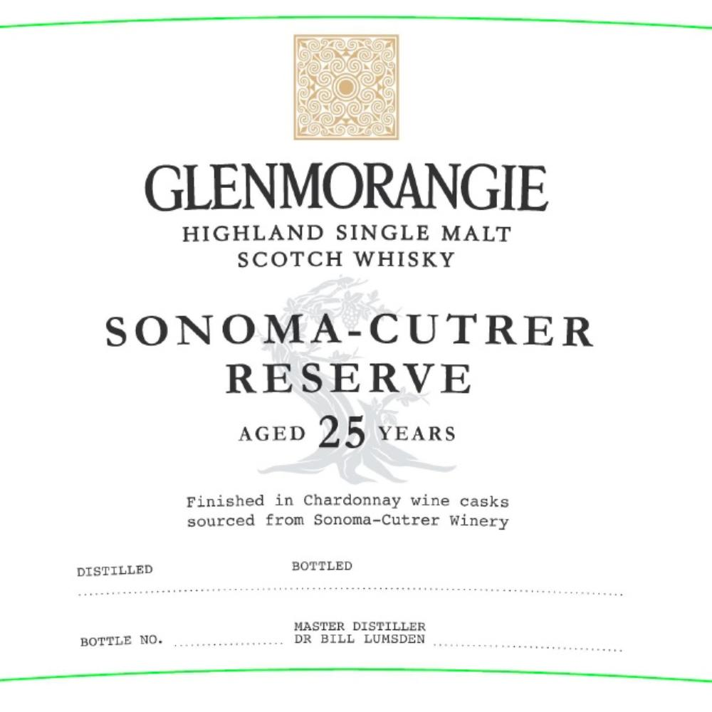 Glenmorangie Sonoma-Cutrer Reserve 25 Year Old