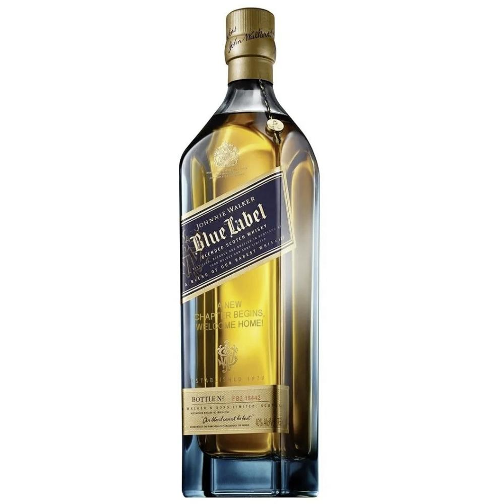 Johnnie Walker Blue Label 'Retirement is the Beginning' Engraved Bottle Scotch Johnnie Walker