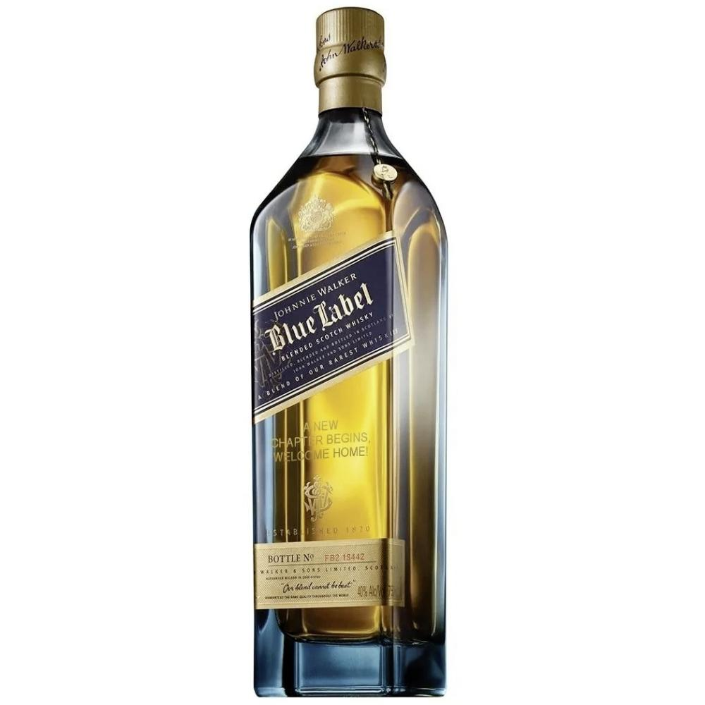 Johnnie Walker Blue Label 'To a Big Step In Your Career' Engraved Bottle Scotch Johnnie Walker
