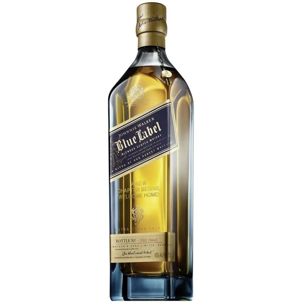 Johnnie Walker Blue Label 'To a New Year And a New Path' Engraved Bottle Scotch Johnnie Walker