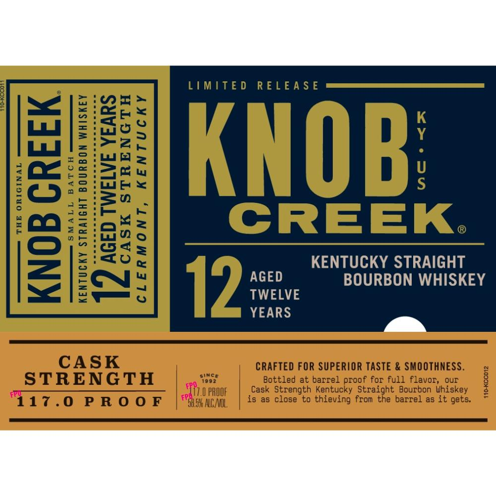 Knob Creek 12 Year Old Cask Strength Bourbon Knob Creek
