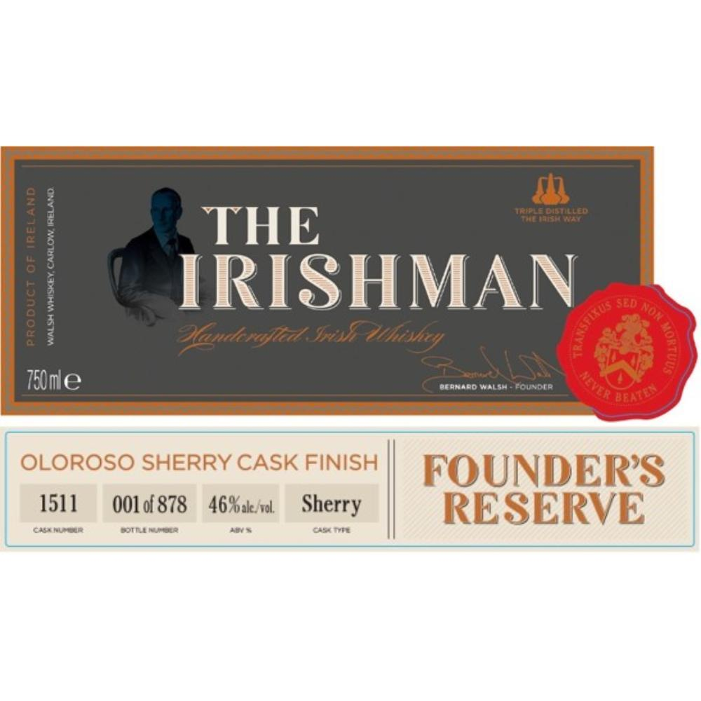 The Irishman Founders Reserve Sherry Cask Finish Irish whiskey Walsh Whiskey