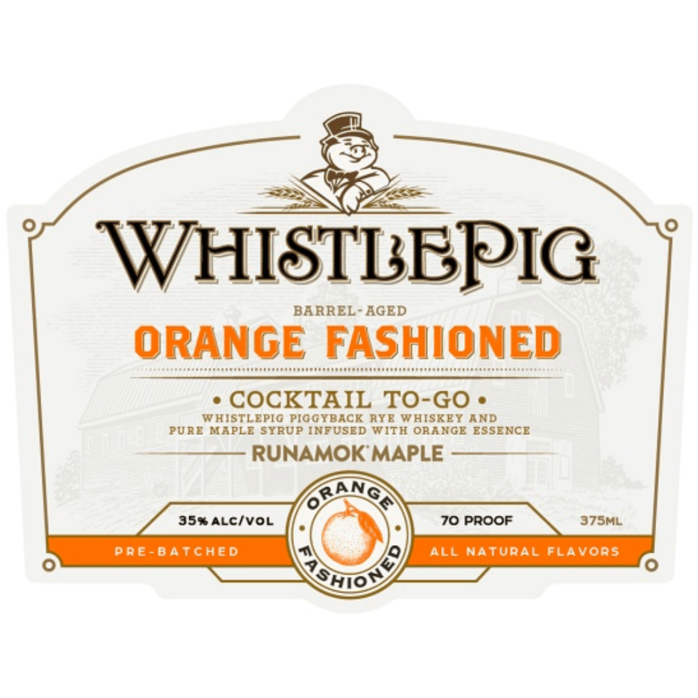 WhistlePig Orange Fashioned Cocktail To-Go Canned Cocktails WhistlePig