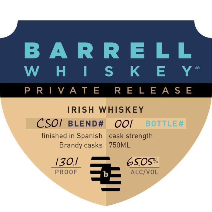 Barrell Private Release Irish Whiskey Irish whiskey Barrell Craft Spirits