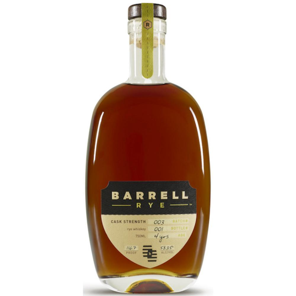 Barrell Rye 003 Rye Whiskey Barrell Craft Spirits