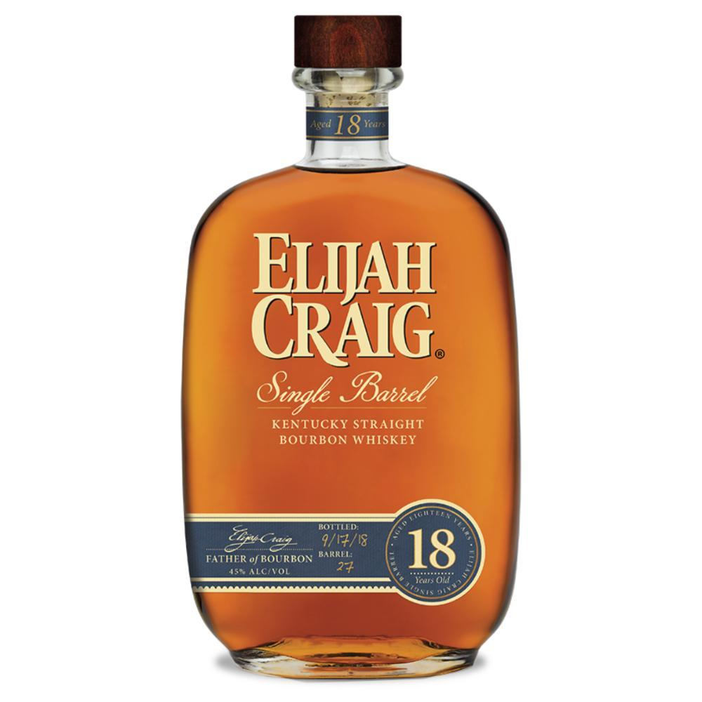 Elijah Craig 18 Year Old Single Barrel Bourbon Elijah Craig