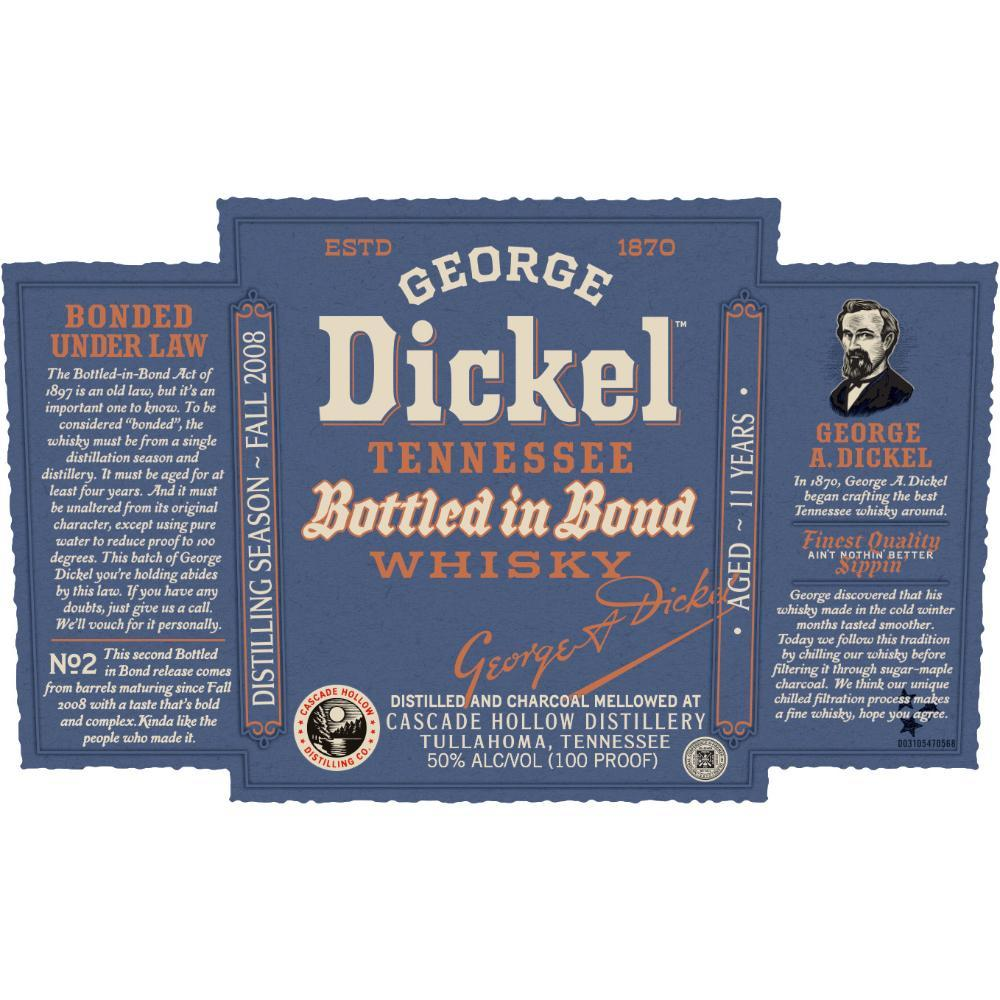 George Dickel Bottled in Bond 11 Year Old American Whiskey George Dickel