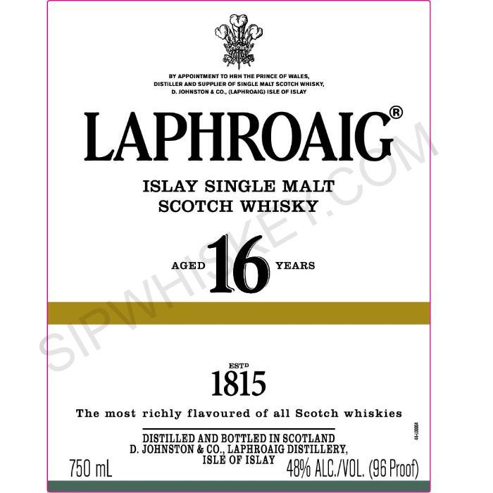 Laphroaig 16 Year Old Scotch Laphroaig