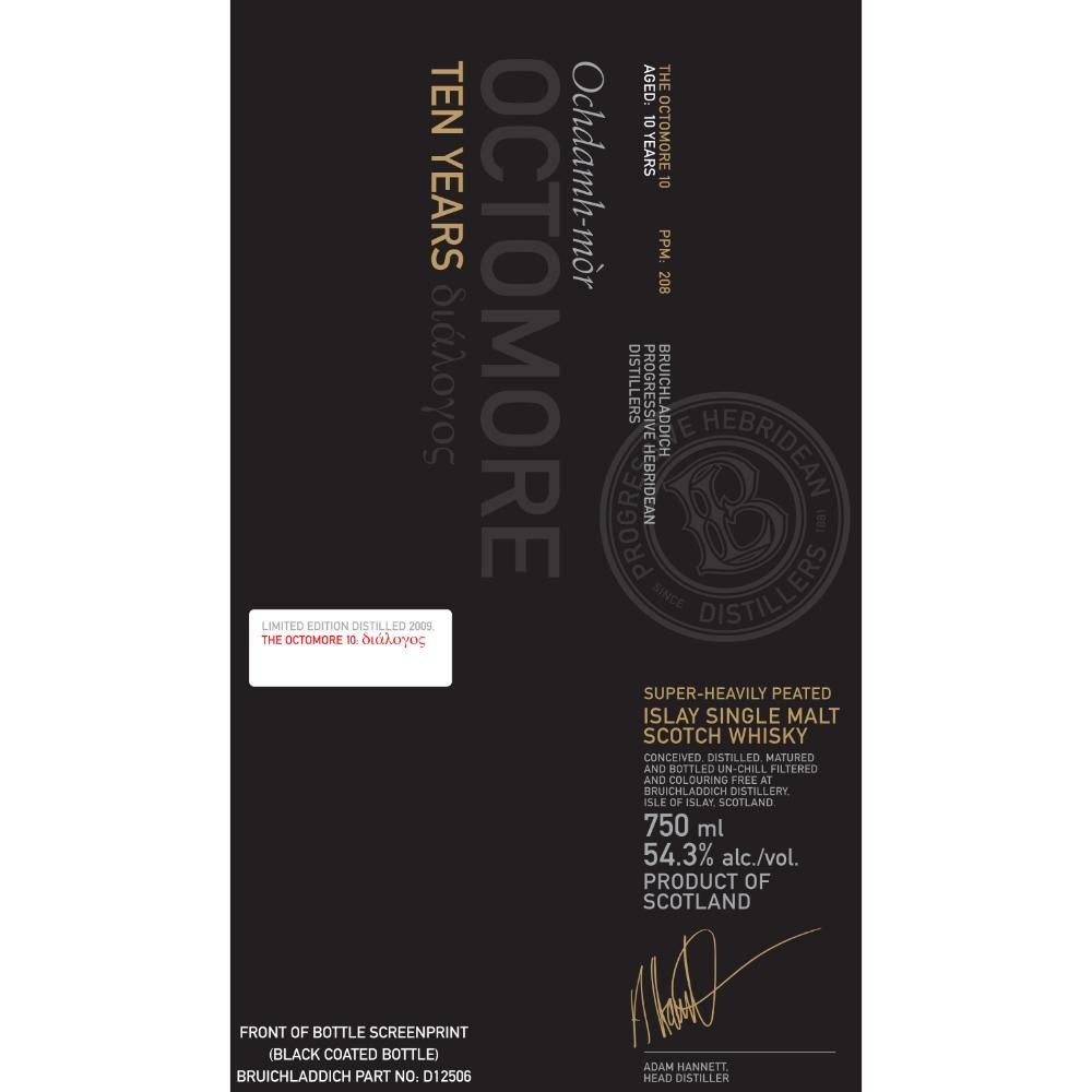 Octomore 10 Year Old 4th Edition Scotch Octomore