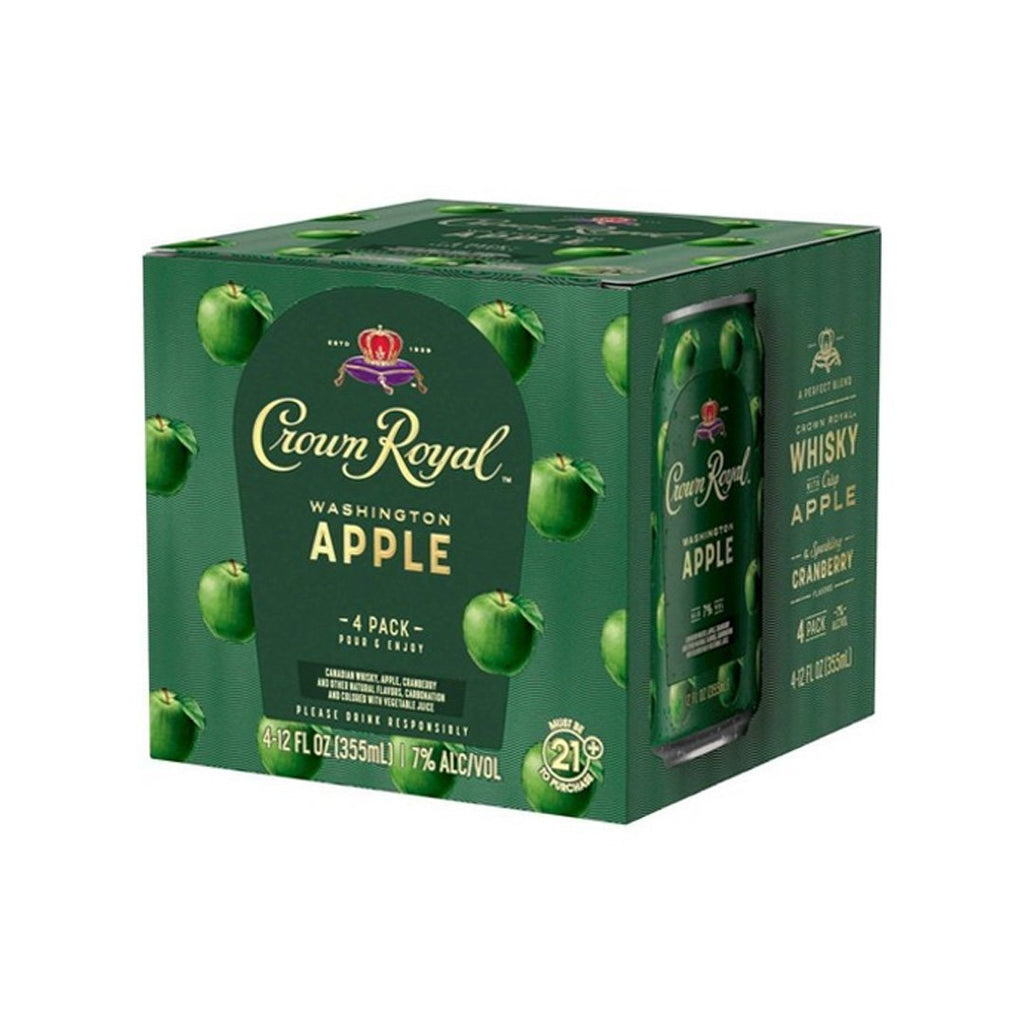 Crown Royal Washington Apple 4pk Cans Canned Cocktails Crown Royal