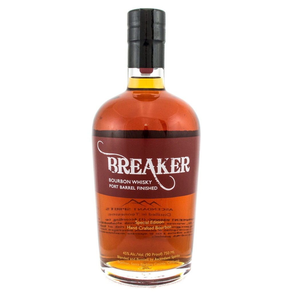 Breaker Bourbon Port Barrel Finished Bourbon Ascendant Spirits