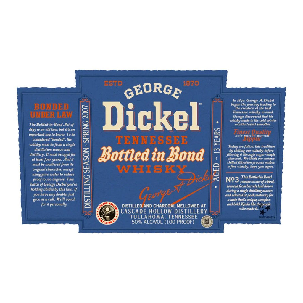 George Dickel Bottled In Bond 2021 Release American Whisky George Dickel