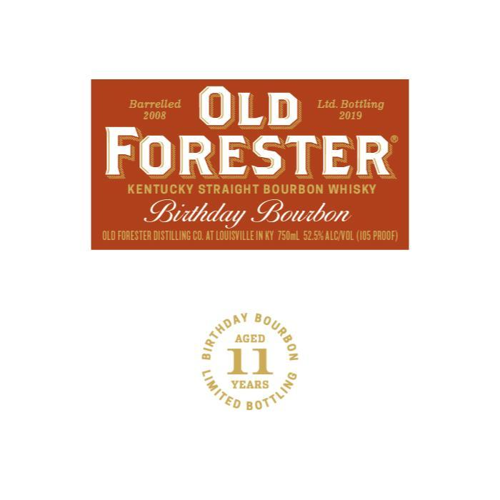 Old Forester Birthday Bourbon 2019 Bourbon Old Forester