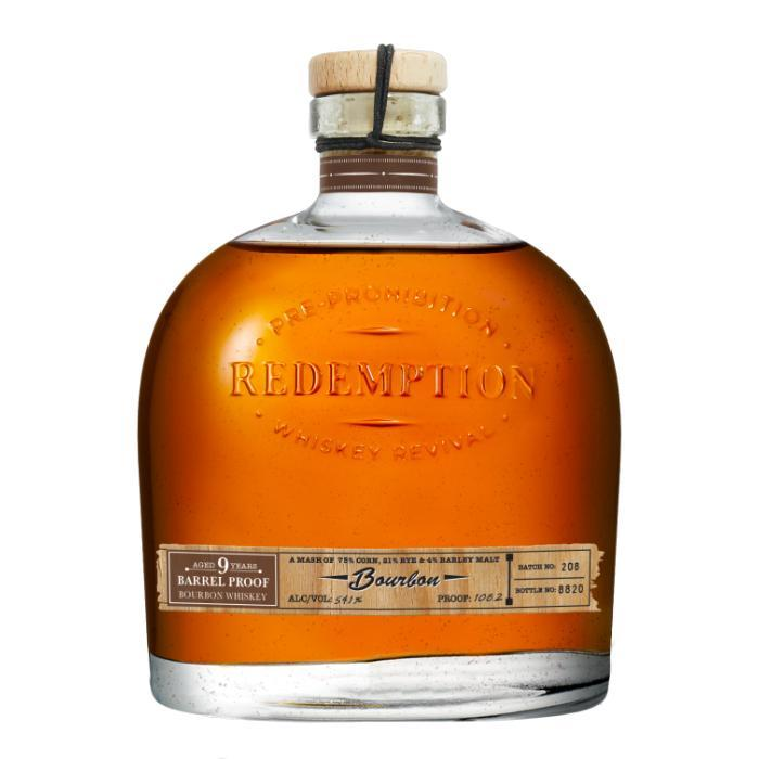 Redemption 9 Year Barrel Proof Bourbon American Whiskey Redemption