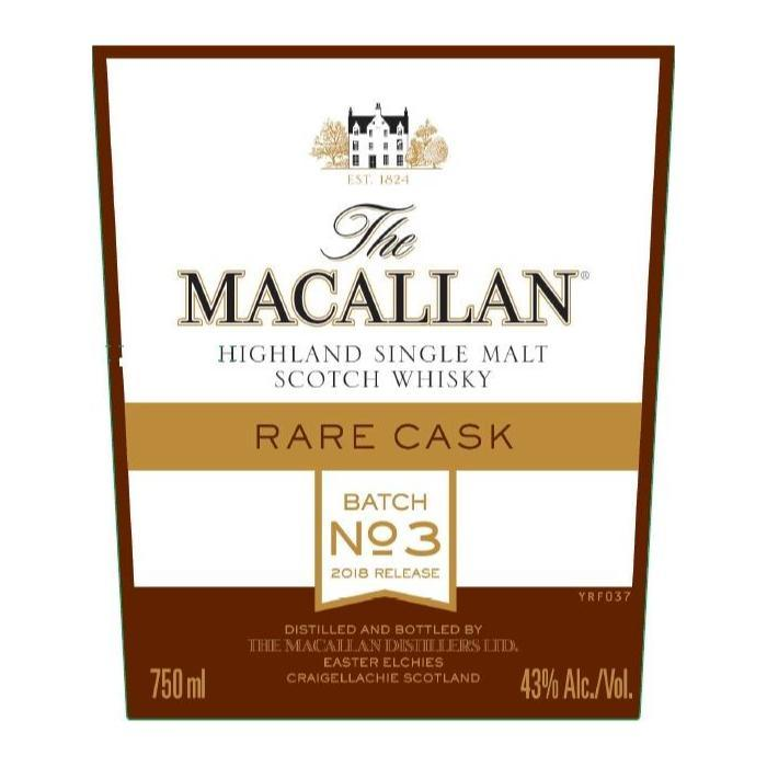 The Macallan Rare Cask Batch No. 3 Scotch The Macallan