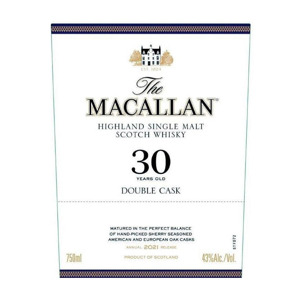 The Macallan 30 Year Old Double Cask Single Malt Scotch Whisky The Macallan