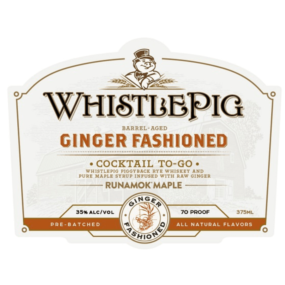 WhistlePig Ginger Fashioned Cocktail To-Go Canned Cocktails WhistlePig