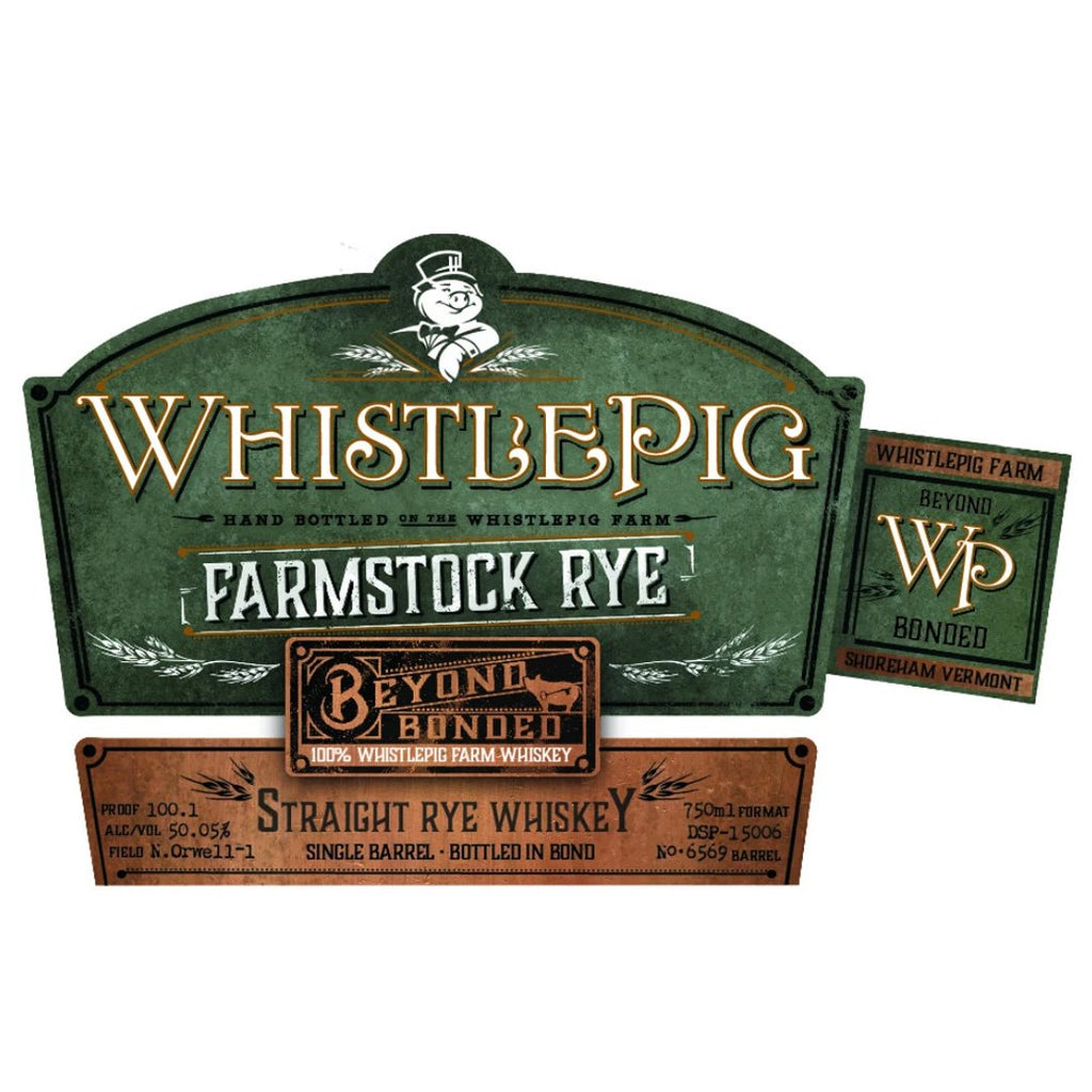 Whistle Pig Farmstock Rye Beyond Bonded Straight Rye Whiskey WhistlePig